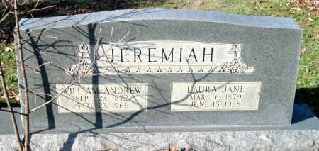 JEREMIAH, WILLIAM ANDREW - Sequoyah County, Oklahoma   WILLIAM ANDREW JEREMIAH - Oklahoma Gravestone Photos