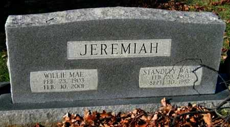 JEREMIAH, STANDLEY WATIE - Sequoyah County, Oklahoma | STANDLEY WATIE JEREMIAH - Oklahoma Gravestone Photos
