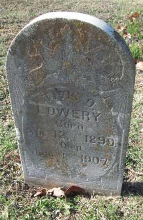 LOWERY, TIVIS O - Sequoyah County, Oklahoma | TIVIS O LOWERY - Oklahoma Gravestone Photos