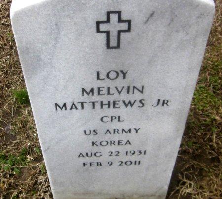 MATTHEWS, LOY MELVIN, JR  (VETERAN KOR) - Sequoyah County, Oklahoma | LOY MELVIN, JR  (VETERAN KOR) MATTHEWS - Oklahoma Gravestone Photos