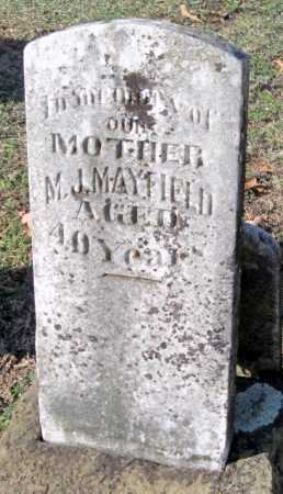 MAYFIELD, MYRTLE  JANE - Sequoyah County, Oklahoma | MYRTLE  JANE MAYFIELD - Oklahoma Gravestone Photos