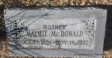 MCDONALD, MAYMIE - Sequoyah County, Oklahoma | MAYMIE MCDONALD - Oklahoma Gravestone Photos
