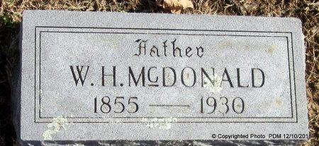 MCDONALD, W H - Sequoyah County, Oklahoma | W H MCDONALD - Oklahoma Gravestone Photos