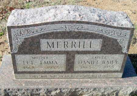 MERRILL, DANIEL BAILY - Sequoyah County, Oklahoma | DANIEL BAILY MERRILL - Oklahoma Gravestone Photos