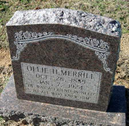 "MERRILL, OLIVER HOWARD ""OLLIE"" - Sequoyah County, Oklahoma 