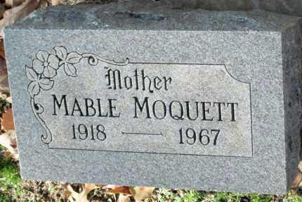 MOQUETT, MABLE - Sequoyah County, Oklahoma | MABLE MOQUETT - Oklahoma Gravestone Photos