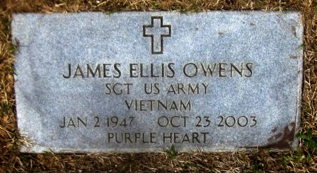 OWENS, JAMES ELLIS  (VETERAN VIET) - Sequoyah County, Oklahoma | JAMES ELLIS  (VETERAN VIET) OWENS - Oklahoma Gravestone Photos
