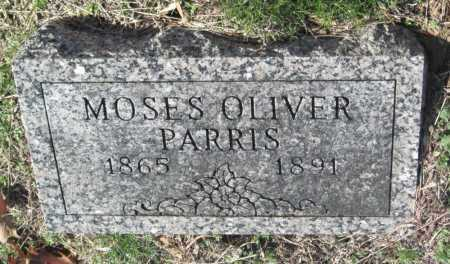 PARRIS, MOSES OLIVER - Sequoyah County, Oklahoma | MOSES OLIVER PARRIS - Oklahoma Gravestone Photos