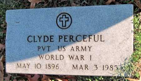 PERCEFUL, CLYDE   (VETERAN WWI) - Sequoyah County, Oklahoma   CLYDE   (VETERAN WWI) PERCEFUL - Oklahoma Gravestone Photos