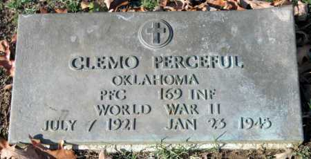 PERCEFUL, CLEMO  (VETERAN WWII, KIA) - Sequoyah County, Oklahoma | CLEMO  (VETERAN WWII, KIA) PERCEFUL - Oklahoma Gravestone Photos