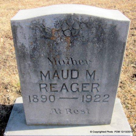 REAGER, MAUD M - Sequoyah County, Oklahoma | MAUD M REAGER - Oklahoma Gravestone Photos