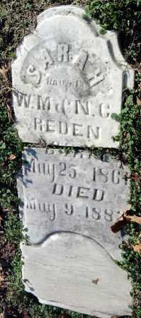 REDEN, SARAH - Sequoyah County, Oklahoma   SARAH REDEN - Oklahoma Gravestone Photos