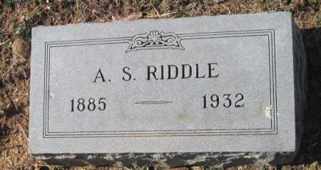RIDDLE, ARTHER S - Sequoyah County, Oklahoma | ARTHER S RIDDLE - Oklahoma Gravestone Photos