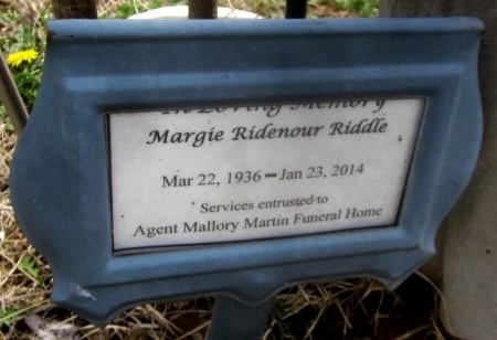 RIDDLE, MARGIE  - Sequoyah County, Oklahoma | MARGIE  RIDDLE - Oklahoma Gravestone Photos