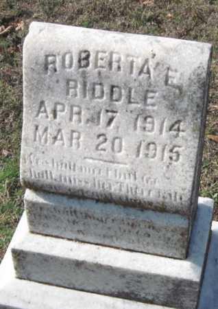 RIDDLE, ROBERTA E - Sequoyah County, Oklahoma | ROBERTA E RIDDLE - Oklahoma Gravestone Photos