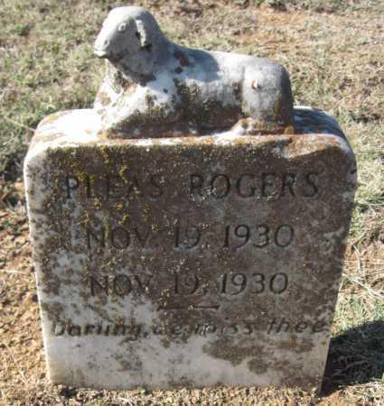 ROGERS, PLEAS - Sequoyah County, Oklahoma   PLEAS ROGERS - Oklahoma Gravestone Photos