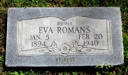 ROMANS, EVA - Sequoyah County, Oklahoma | EVA ROMANS - Oklahoma Gravestone Photos