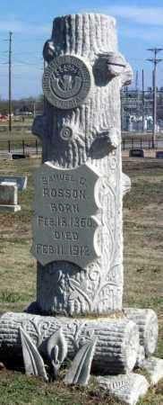 ROSSON, SAMUEL C - Sequoyah County, Oklahoma   SAMUEL C ROSSON - Oklahoma Gravestone Photos