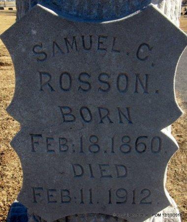 ROSSON, SAMUEL C  (CLOSEUP) - Sequoyah County, Oklahoma | SAMUEL C  (CLOSEUP) ROSSON - Oklahoma Gravestone Photos