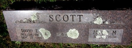 SCOTT, MAUDE M - Sequoyah County, Oklahoma | MAUDE M SCOTT - Oklahoma Gravestone Photos