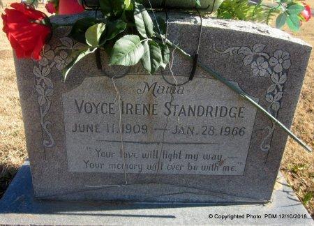 STANDRIDGE, VOYCE IRENE - Sequoyah County, Oklahoma | VOYCE IRENE STANDRIDGE - Oklahoma Gravestone Photos