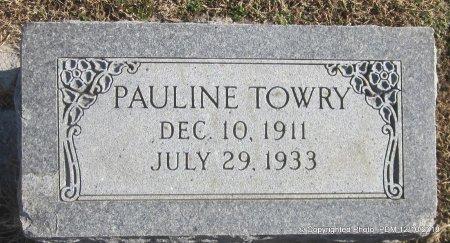 TOWRY, PAULINE - Sequoyah County, Oklahoma | PAULINE TOWRY - Oklahoma Gravestone Photos