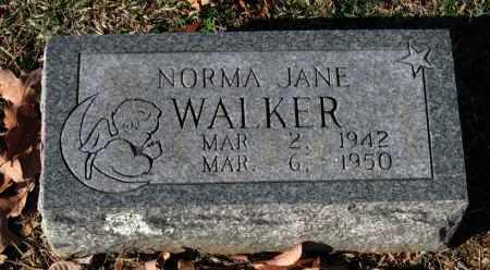 WALKER, NORMA JANE - Sequoyah County, Oklahoma | NORMA JANE WALKER - Oklahoma Gravestone Photos