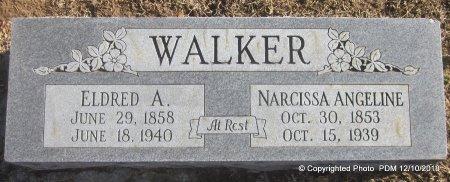 ALLEN WALKER, NARCISSA ANGELINE - Sequoyah County, Oklahoma | NARCISSA ANGELINE ALLEN WALKER - Oklahoma Gravestone Photos