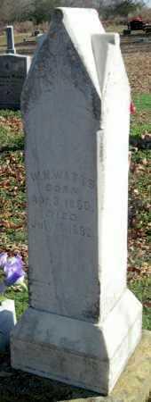 WATTS , WILLIAM HENRY, SR - Sequoyah County, Oklahoma | WILLIAM HENRY, SR WATTS  - Oklahoma Gravestone Photos