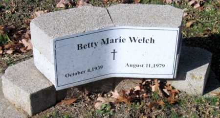 WELCH, BETTY MARIE - Sequoyah County, Oklahoma | BETTY MARIE WELCH - Oklahoma Gravestone Photos