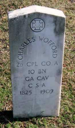 WOFFORD, CHARLES CLARK  (VETERAN CSA) - Sequoyah County, Oklahoma | CHARLES CLARK  (VETERAN CSA) WOFFORD - Oklahoma Gravestone Photos