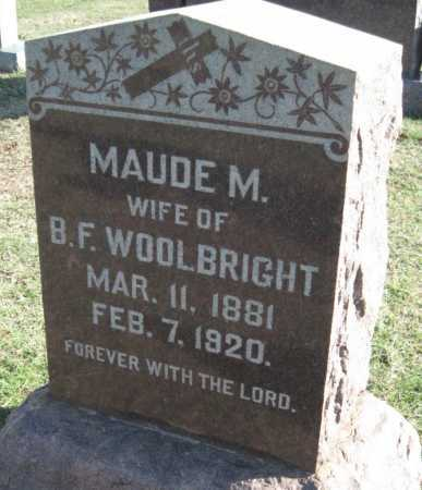 LONDON WOOLBRIGHT, MAUDE M - Sequoyah County, Oklahoma | MAUDE M LONDON WOOLBRIGHT - Oklahoma Gravestone Photos