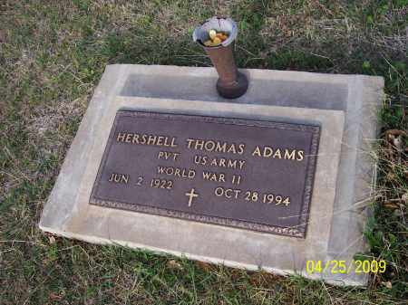 ADAMS, HERSHELL  THOMAS - Stephens County, Oklahoma | HERSHELL  THOMAS ADAMS - Oklahoma Gravestone Photos