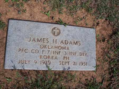 ADAMS, JAMES H. - Stephens County, Oklahoma | JAMES H. ADAMS - Oklahoma Gravestone Photos