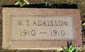 ADKISSON, W.T. - Stephens County, Oklahoma   W.T. ADKISSON - Oklahoma Gravestone Photos