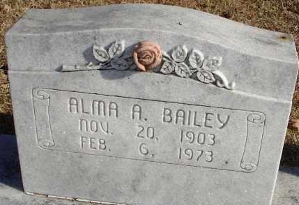 BAILEY, ALMA A. - Stephens County, Oklahoma   ALMA A. BAILEY - Oklahoma Gravestone Photos