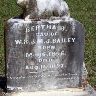 BAILEY, BERTHA B. - Stephens County, Oklahoma   BERTHA B. BAILEY - Oklahoma Gravestone Photos