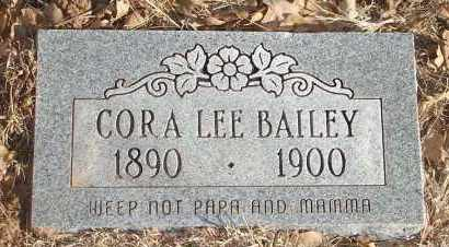 BAILEY, CORA LEE - Stephens County, Oklahoma | CORA LEE BAILEY - Oklahoma Gravestone Photos