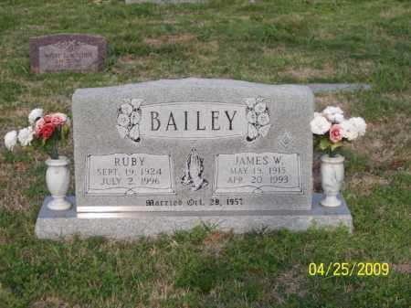 BAILEY, JAMES W. - Stephens County, Oklahoma | JAMES W. BAILEY - Oklahoma Gravestone Photos