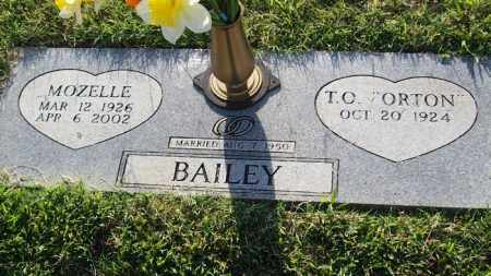 BAILEY, T.O. - Stephens County, Oklahoma | T.O. BAILEY - Oklahoma Gravestone Photos