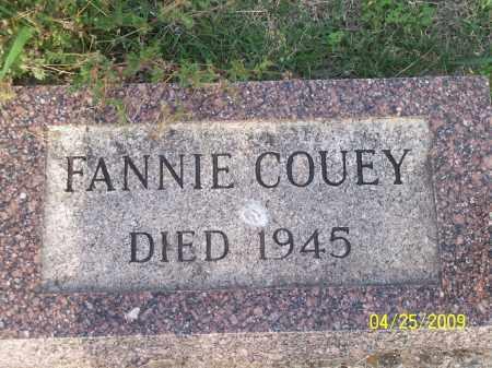 COUEY, FANNIE - Stephens County, Oklahoma | FANNIE COUEY - Oklahoma Gravestone Photos