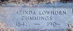 LOWHORN CUMMINGS, CLARINDA - Stephens County, Oklahoma | CLARINDA LOWHORN CUMMINGS - Oklahoma Gravestone Photos