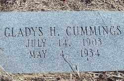 CUMMINGS, GLADYS H. - Stephens County, Oklahoma | GLADYS H. CUMMINGS - Oklahoma Gravestone Photos
