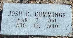 CUMMINGS, JOSH D. - Stephens County, Oklahoma | JOSH D. CUMMINGS - Oklahoma Gravestone Photos