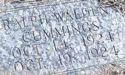 CUMMINGS, RALPH WALDEN - Stephens County, Oklahoma   RALPH WALDEN CUMMINGS - Oklahoma Gravestone Photos