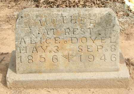 DOYEL, ALICE - Stephens County, Oklahoma | ALICE DOYEL - Oklahoma Gravestone Photos
