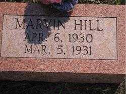 HILL, MARVIN - Stephens County, Oklahoma | MARVIN HILL - Oklahoma Gravestone Photos