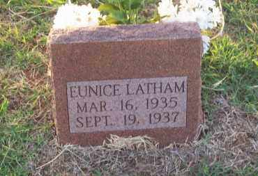 LATHAM, EUNICE - Stephens County, Oklahoma   EUNICE LATHAM - Oklahoma Gravestone Photos