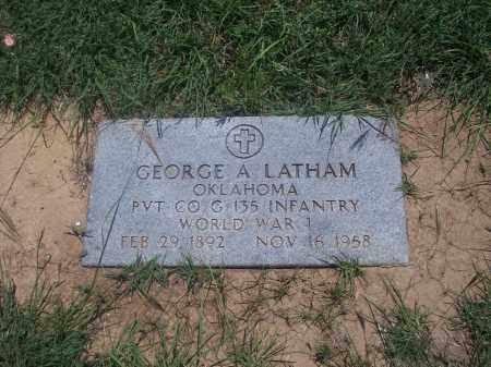 LATHAM, GEORGE A. - Stephens County, Oklahoma   GEORGE A. LATHAM - Oklahoma Gravestone Photos