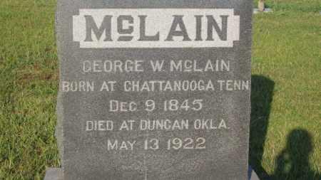 MCLAIN, GEORGE W. - Stephens County, Oklahoma | GEORGE W. MCLAIN - Oklahoma Gravestone Photos